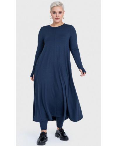 Повседневное синее платье Lessismore