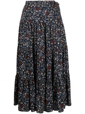 С завышенной талией черная юбка миди из вискозы Chloé