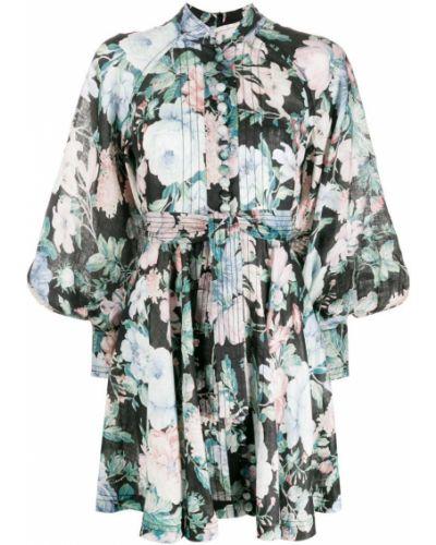 Платье макси на пуговицах с цветочным принтом Zimmermann