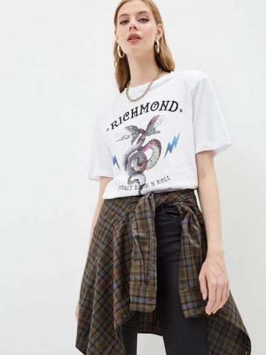Белая футболка с короткими рукавами Richmond