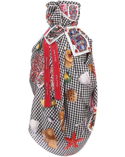 Платье с поясом из фатина с вышивкой Dolce & Gabbana
