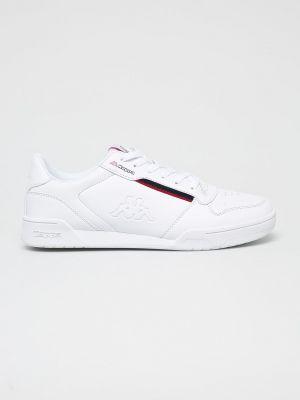 Текстильные белые кроссовки на шнуровке Kappa