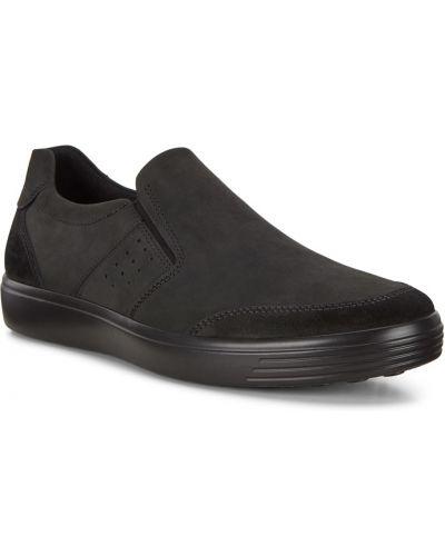 Мягкие текстильные черные слипоны Ecco