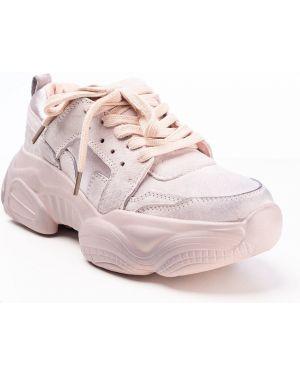 Текстильные розовые кроссовки Vensi