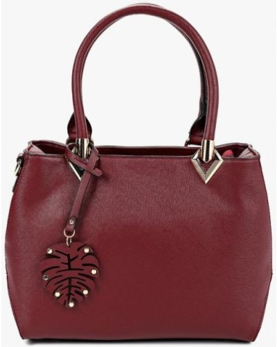 Кожаный сумка с ручками бордовый Fabretti