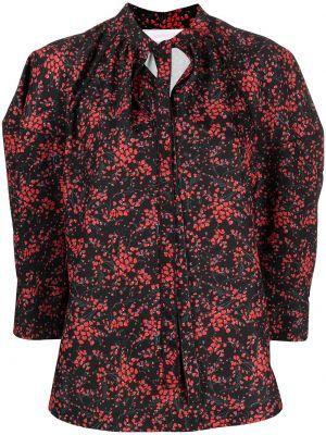 Черная блузка с вырезом в цветочный принт See By Chloé