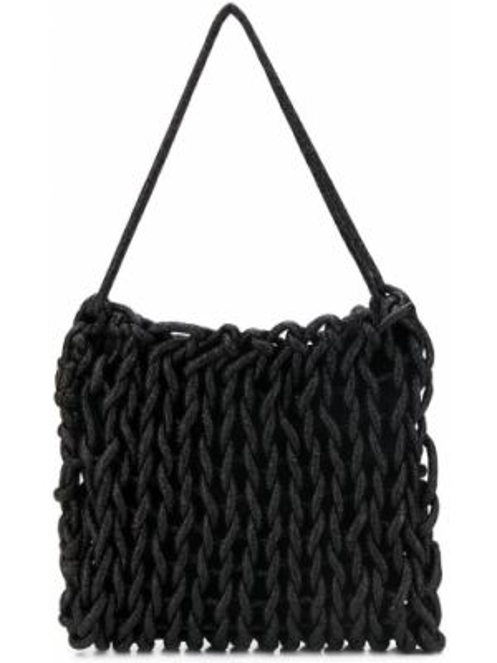 Czarna torebka bawełniana Alienina