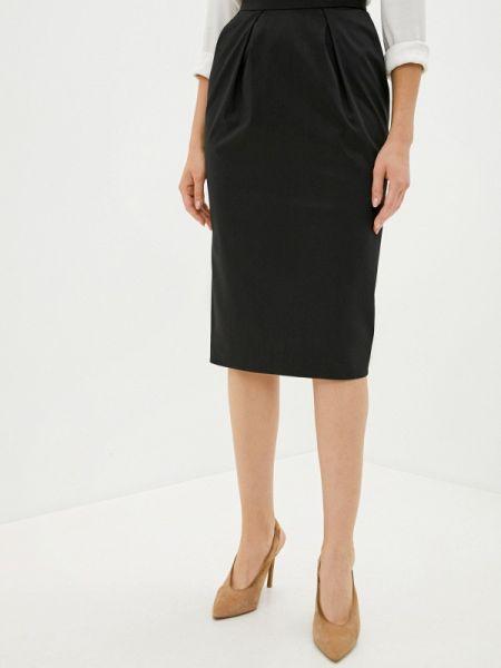 Черная прямая юбка карандаш Laroom