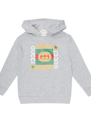 Bawełna bawełna bluza z kapturem Gucci Kids