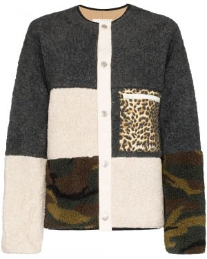 Черная короткая куртка пэчворк Sandy Liang