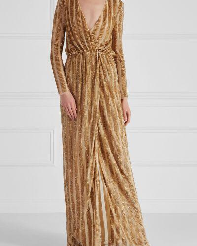 Вечернее платье макси с вырезом Elisabetta Franchi