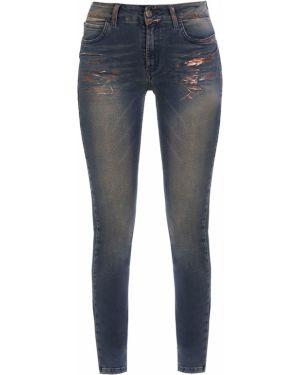 Зауженные джинсы-скинни с пайетками на пуговицах с поясом Gender Denim
