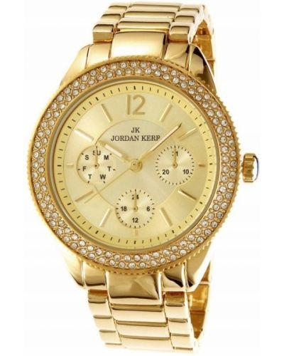 Żółty złoty zegarek elegancki Jordan Kerr
