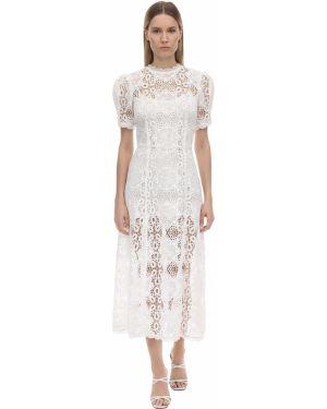 Платье миди с кружевными рукавами с рукавами Alice Mccall