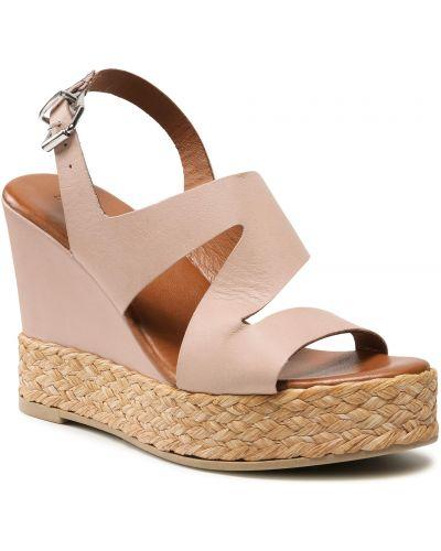 Sandały espadryle - różowe Inuovo