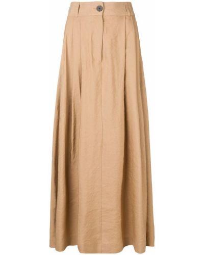Юбка макси с завышенной талией коричневый Mara Hoffman