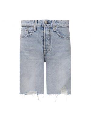 Джинсовые шорты - голубые Rag&bone