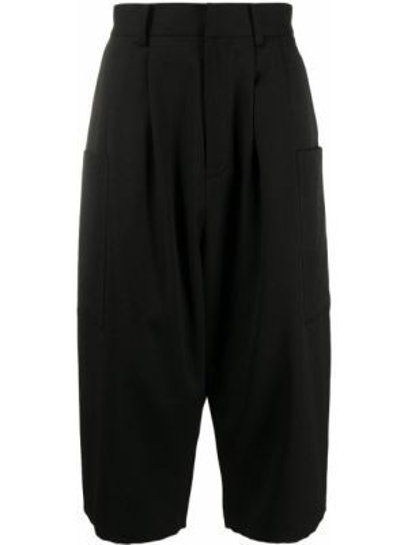 Однобортные черные шорты с карманами Ambush