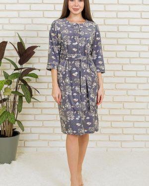 Халат с поясом велюровый Lika Dress