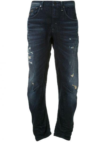 Синие зауженные джинсы-скинни на молнии G-star Raw