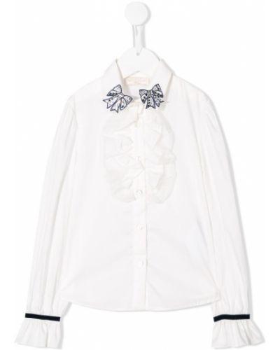 Рубашка с воротником белый Monnalisa