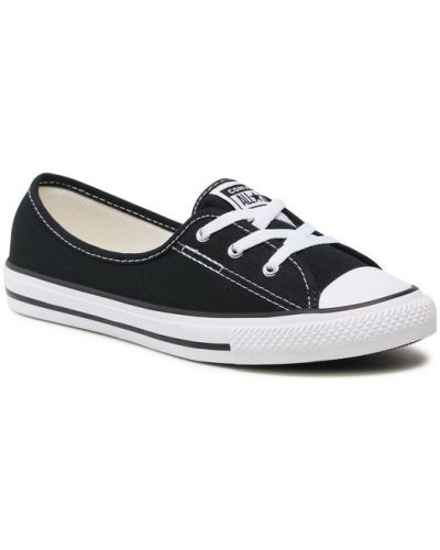 Czarne majtki koronkowe sznurowane Converse