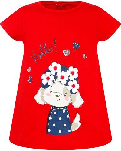 Хлопковая красная футболка Mayoral