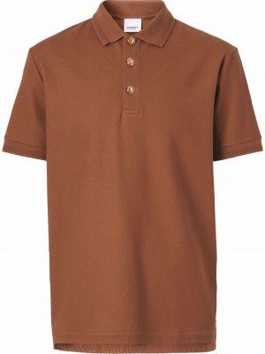 Koszula krótki rękaw - brązowa Burberry