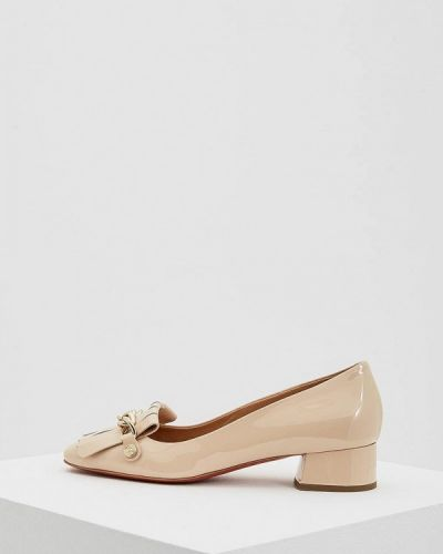 Бежевые туфли для офиса Baldinini