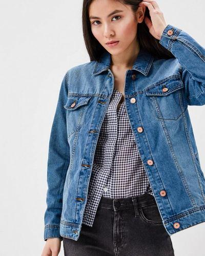 Джинсовая куртка весенняя синий Noisy May