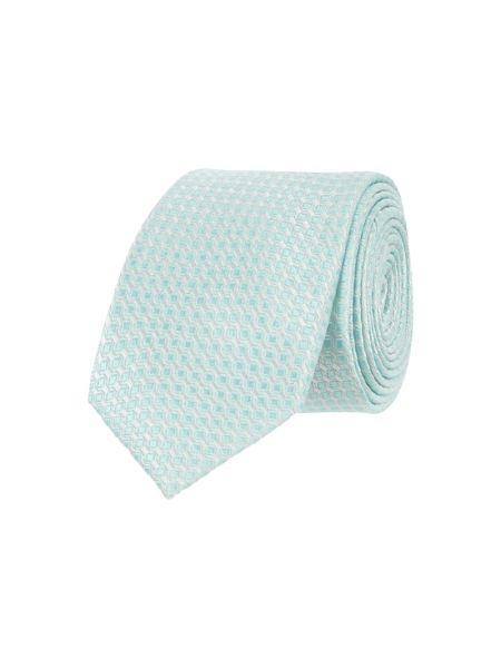 Zielony krawat z jedwabiu Monti