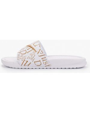 Сланцы белые Nike