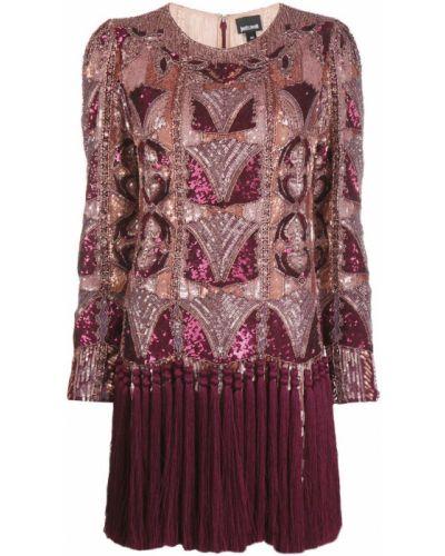 Платье с пайетками трапеция Just Cavalli