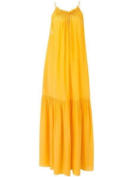 Sukienka z jedwabiu z paskiem Three Graces