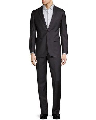 Костюмный шерстяной приталенный костюм классический Calvin Klein