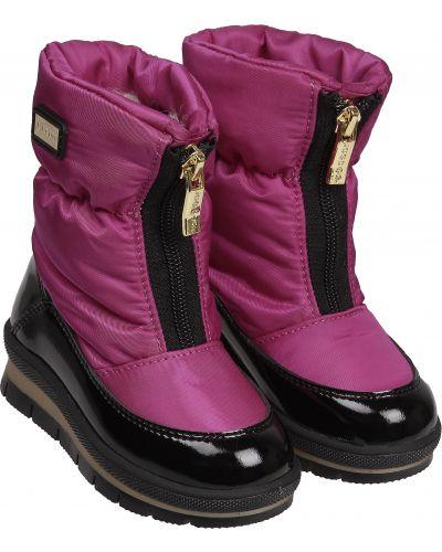 Текстильные розовые сапоги Jog Dog