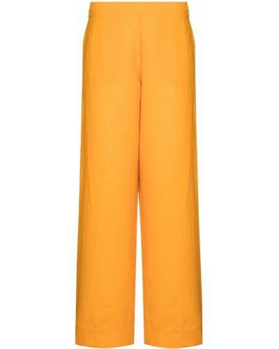 Оранжевые брюки с поясом Asceno