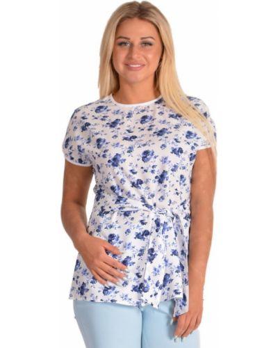 Блузка из штапеля с цветочным принтом инсантрик