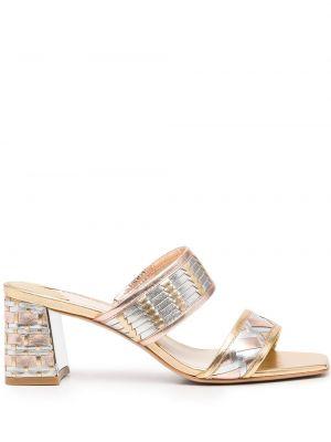 Босоножки на каблуке - розовые Sophia Webster