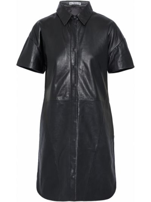 Кожаное платье мини - черное Walter Baker