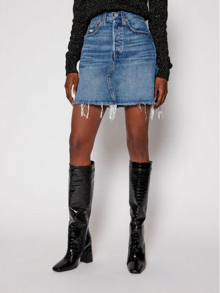 Spódnica jeansowa - niebieska Levi's