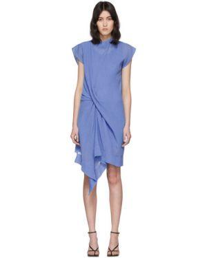 Платье плиссированное со складками Nina Ricci