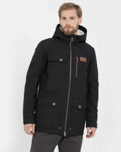 Куртка с капюшоном утепленная черная Outventure