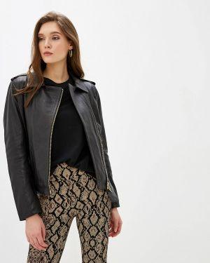 Черная кожаная куртка Oakwood