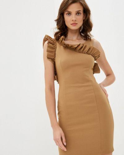 Бежевое платье-футляр Imperial