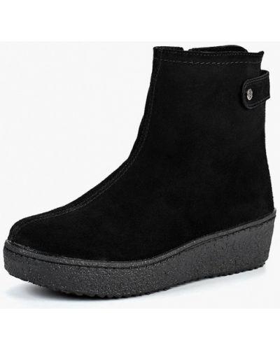Ботинки на каблуке осенние замшевые Shoiberg