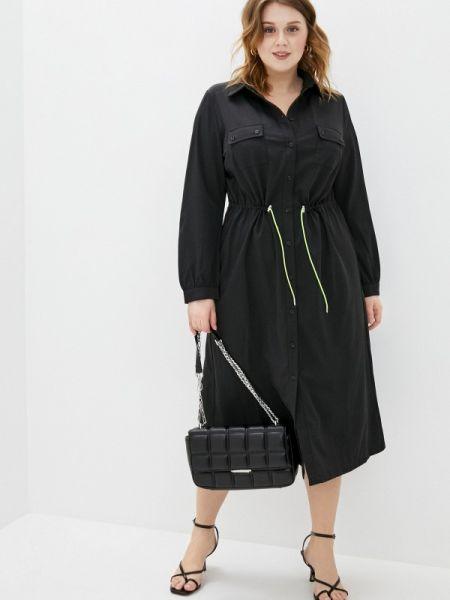 Платье платье-рубашка черное Studio Untold