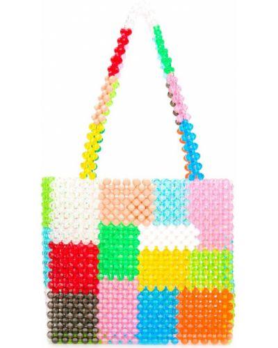 Розовая сумка с ручками Susan Alexandra