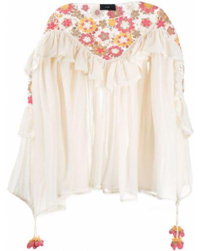 Блузка с рюшами с вырезом Alanui