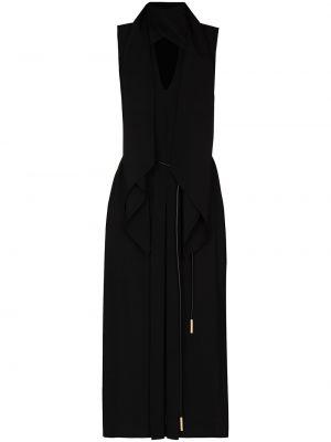 Платье миди - черное Fendi